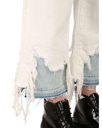 R13 White Camille Distressed Denim Jeans