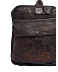 Campomaggi Brown Vintage Effect Leather Briefcase for men