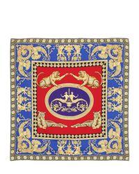 Lyst - Foulard En Twill De Soie Imprimée Versace 14e5f3fbfa8