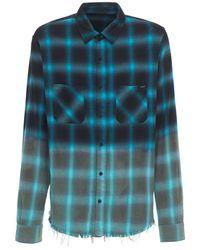 メンズ Amiri Shadow チェックシャツ Blue
