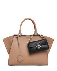 Fendi Black Micro Baguette Nappa Leather Bag