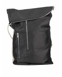 Rick Owens Drkshdw Black Woven Backpack for men