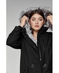 Mackage Rena-x Fur-lined Twill Parka In Black - Women
