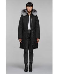 Mackage Enia-x Mid Length Winter Down Coat With Fur In Black - Women - Xxs