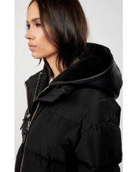 Manteau De Duvet avec Capuche en Peau De Mouton Amovible en Noir Mackage en coloris Black