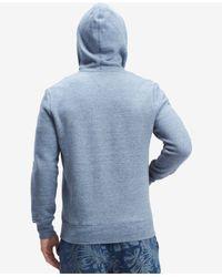 Tommy Hilfiger - Blue Plains Drawstring Hoodie for Men - Lyst