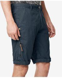 Buffalo David Bitton - Blue Men's Hirculean Cotton Shorts for Men - Lyst