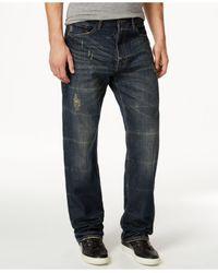 Sean John Blue Patch-pocket Hamilton Jeans for men