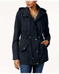 Style & Co. - Blue Petite Cotton Hooded Utility Jacket - Lyst