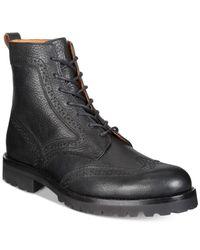 Frye - Black Men's Earl Wingtip Boots for Men - Lyst