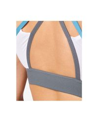 Adidas - White Climalite® Medium-support Halter Sports Bra - Lyst