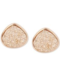 Kenneth Cole - Metallic Rose Gold-tone Druzy Stone Stud Earrings - Lyst