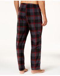 Perry Ellis - Red Men's Buffalo Check Plaid Fleece Pajama Pants for Men - Lyst