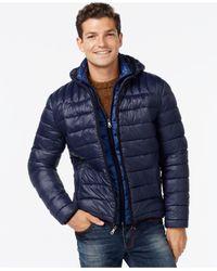Tommy Hilfiger - Blue Hooded Packable Jacket for Men - Lyst