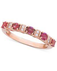 Macy's Pink Tourmaline (3/5 Ct. T.w.) & Diamond (1/8 Ct. T.w.) Ring In 14k Rose Gold
