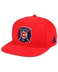 Adidas Red Chicago Fire Poly Snapback Cap for men