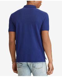 Polo Ralph Lauren - Blue Custom Slim Fit Cotton Polo for Men - Lyst
