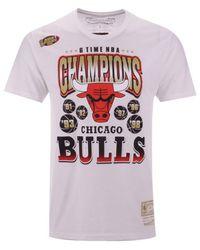 ba0629ed Men's White Chicago Bulls 6 Time Gold T-shirt