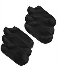 Hue Black Microfiber Liner Sock