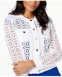 INC International Concepts - White I.n.c. Sheer Lace Jacket, Created For Macy's - Lyst