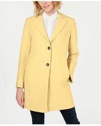 Tahari Yellow T Jayden Single-breasted Coat