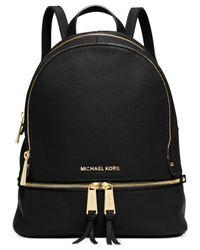 Michael Kors - Black Rhea Zip Small Backpack - Lyst