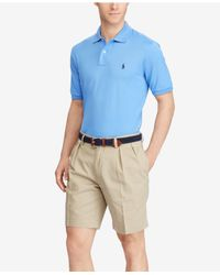 Polo Ralph Lauren - Brown Classic-fit Pleated Chino Shorts for Men - Lyst