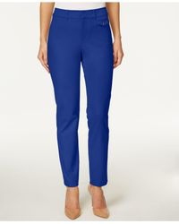 Charter Club - Blue Slim Ankle Pants - Lyst