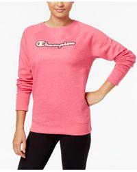 Champion Pink Boyfriend-fit Fleece Sweatshirt
