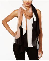 Kate Spade - Black Multicolor Interlock Oblong Scarf - Lyst