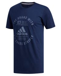 Adidas - Blue Climalite® T-shirt for Men - Lyst