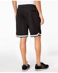Armani Exchange Black Mesh Bsketbll Shorts for men