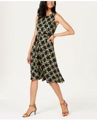 Charter Club Black Printed Midi Dress, Created For Macy's