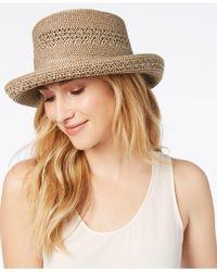 Nine West Natural Packable Kettle Hat