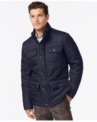 Tommy Hilfiger Black Four-pocket Quilted Jacket for men