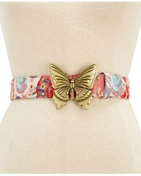 Steve Madden - Multicolor Butterfly-plaque Belt - Lyst