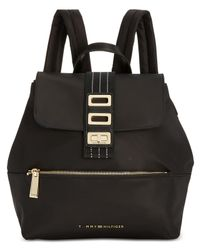 Tommy Hilfiger Black Triple-compartment Solid Backpack