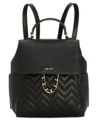 Nine West - Black Tulip Quilted Small Backpack - Lyst