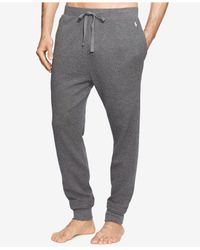 Polo Ralph Lauren Gray Men's Waffle-knit Jogger Pajama Pants for men