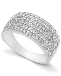 Macy's | Multicolor Pave Diamond Ring In Sterling Silver (1/2 Ct. T.w.) | Lyst