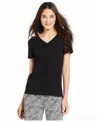Hue | Black Solid Short Sleeve Sleep Tee | Lyst