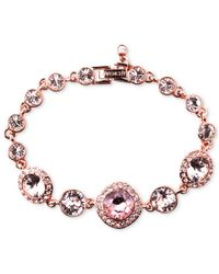 Givenchy - Pink Bracelet, Rose Gold-tone Swarovski Vintage Stone Bracelet - A Macy's Exclusive - Lyst