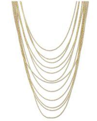 2028 | Metallic Gold-tone Multi-row Chain Necklace | Lyst