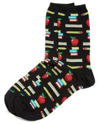 Hot Sox | Black Teacher's Pet Crew Socks | Lyst