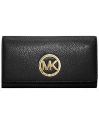 Michael Kors | Black Michael Fulton Carryall Wallet | Lyst