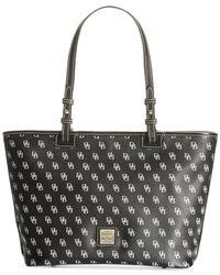 Dooney & Bourke | Black Handbag, Gretta Signature Small Leisure Shopper | Lyst