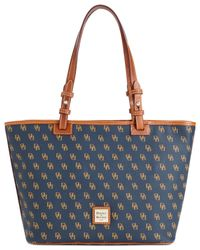 Dooney & Bourke | Blue Gretta Signature Small Leisure Shopper | Lyst