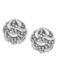 Effy Collection - Metallic Classique By Effy Diamond Swirl Earrings (1-1/2 Ct. T.w.) In 14k White Gold - Lyst