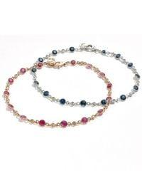 Effy Collection - Metallic Effy® Ruby (2 Ct. T.w.) & Diamond (1/6 Ct. T.w.) Bracelet In 14k Rose Gold - Lyst