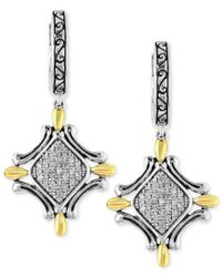 Effy Collection - Multicolor Balissima By Effy Diamond Curve Drop Earrings (1/5 Ct. T.w.) In Sterling Silver And 18k Gold - Lyst
